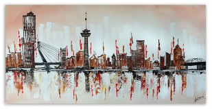 Skyline Rotterdam Brown